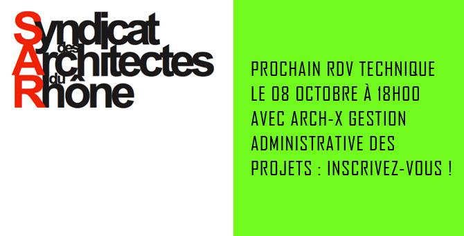 RIT: Rendez-vous Arch-X Gestion administrative des projets @ au SAR