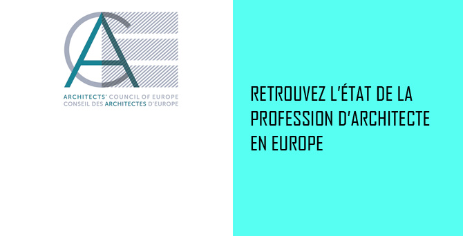 CAE - Etat de la profession d'architecte en Europe – 2016