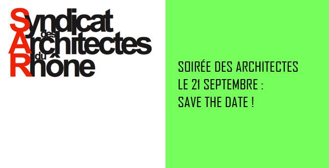 Soirée des Architectes le 21 septembre @ Le Sucre